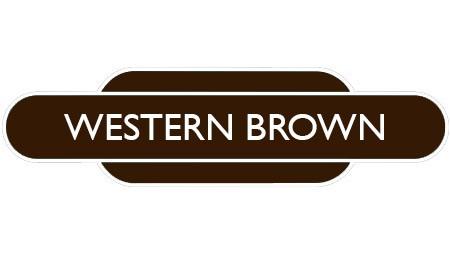 Heritage totem rail sign brown