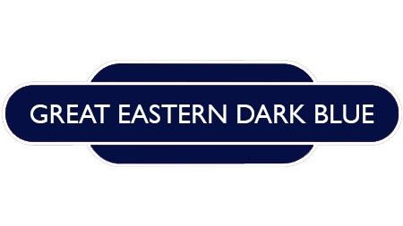 Heritage totem rail sign dark blue