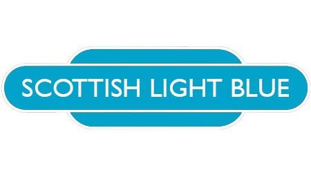 Heritage totem rail sign light blue
