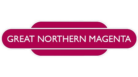 Heritage totem rail sign magenta