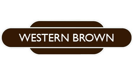 Heritage totem rail sign brown