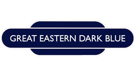 Heritage totem rail sign dark blue