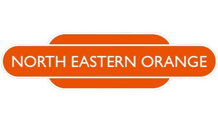Heritage totem rail sign orange