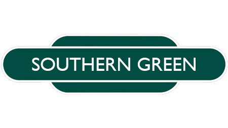 Heritage totem rail sign green
