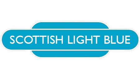 Heritage totem rail sign light blue